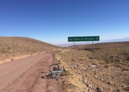 bike lying in the desert
