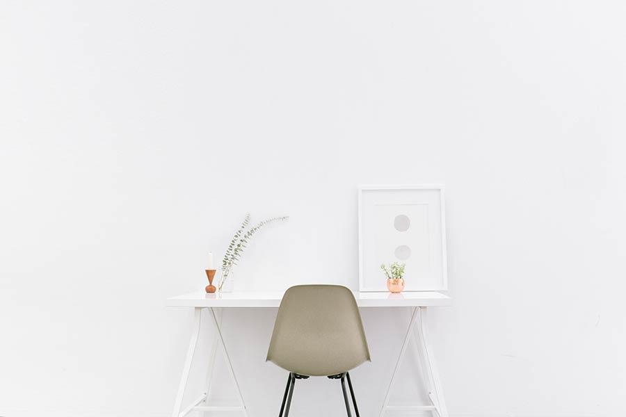 clutter-free clean desk
