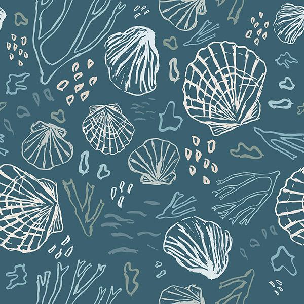 ocean pattern - deep sea treasures cold