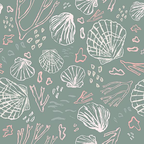 ocean pattern - deep sea treasures soft