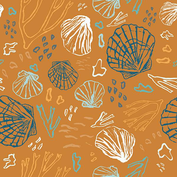 ocean pattern - deep sea treasures vivid