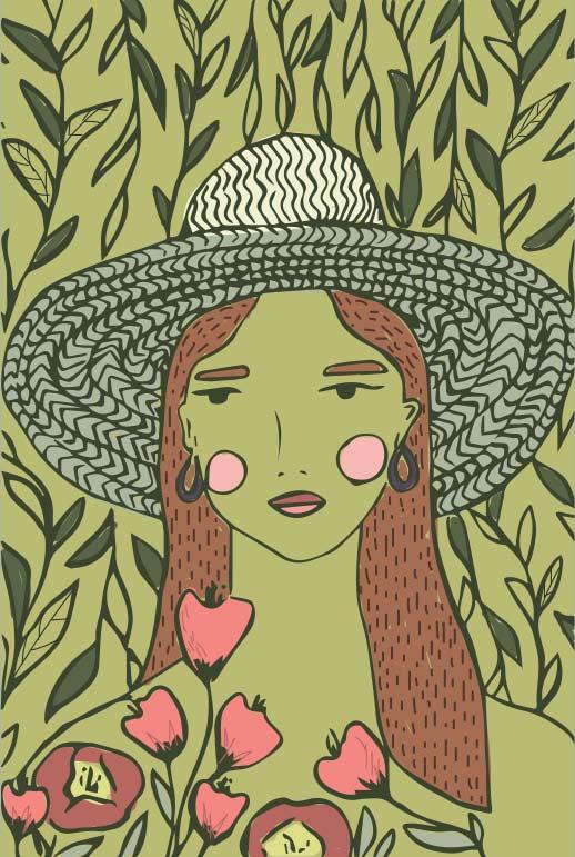 digital illustration - in bloom