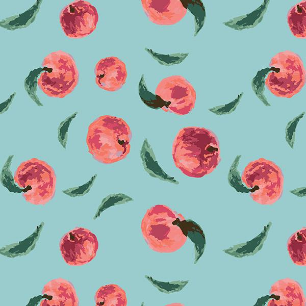 fruit pattern - peachy
