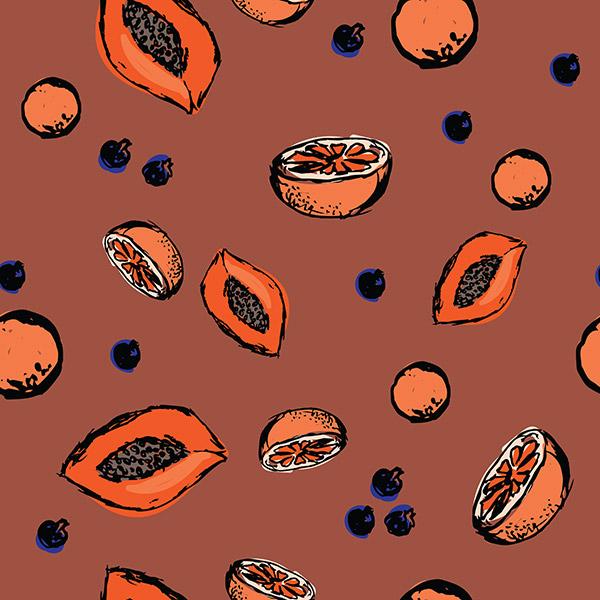 fruit pattern - smoothie mix