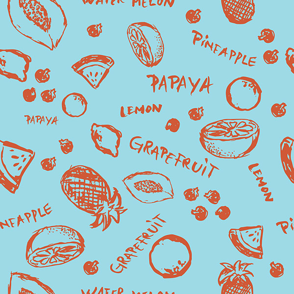 fruit pattern - tropical fresh