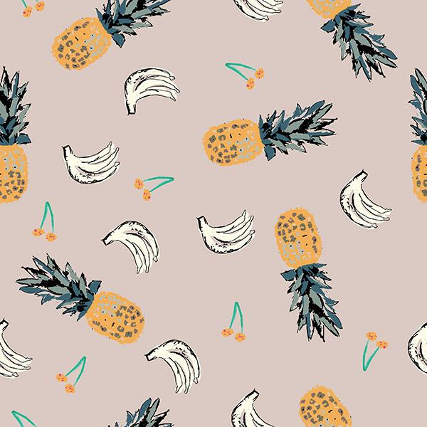 fruit pattern - tropical fruit salad