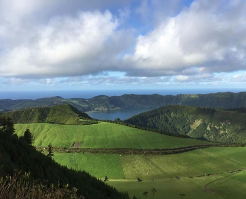 Azores lake and meadow