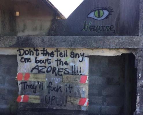 Azores eye graffiti