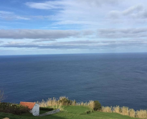 Azores sky and ocean