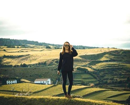 Azores posing