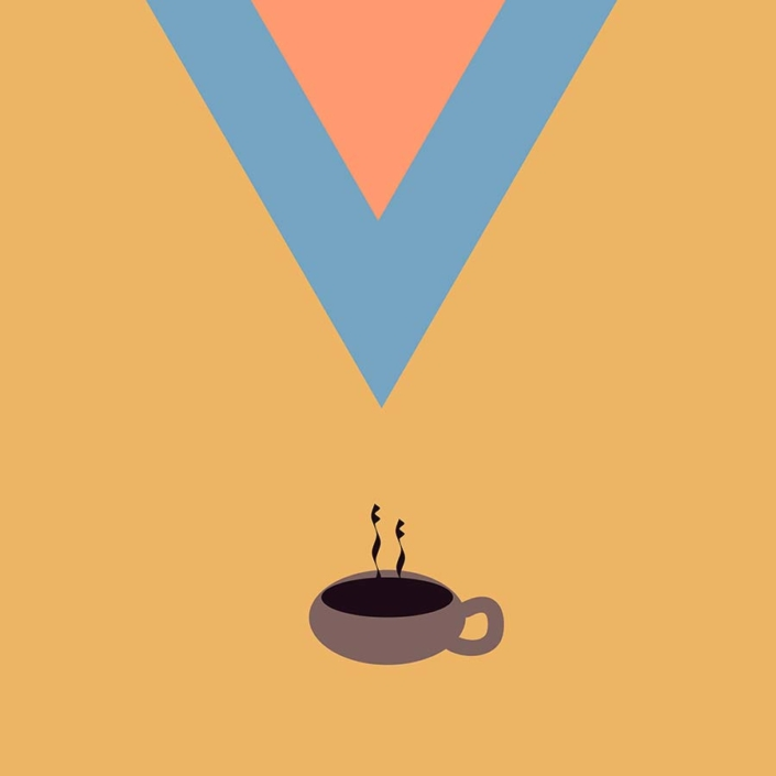 digital illustration - coffee please