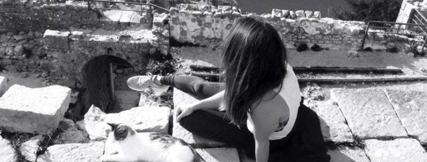 black and white woman, views - destination