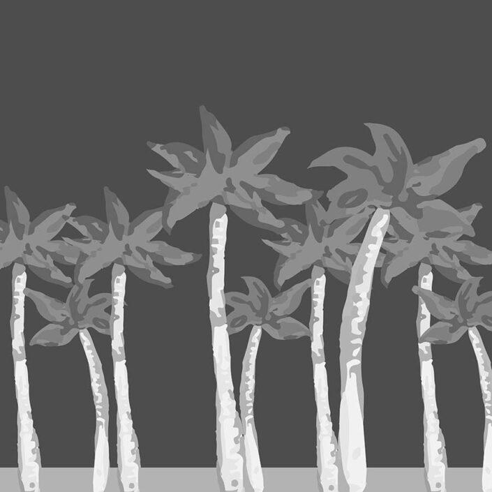 digital illustration - grey palms