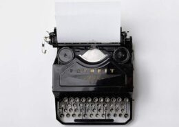 typewriter - lockdown inspiration