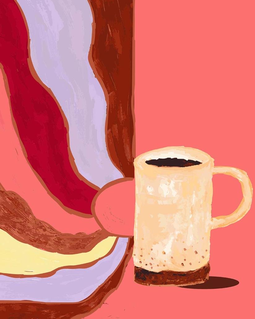 digital illustration - morning coffee feels like
