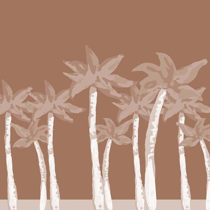 digital illustration - orange palms