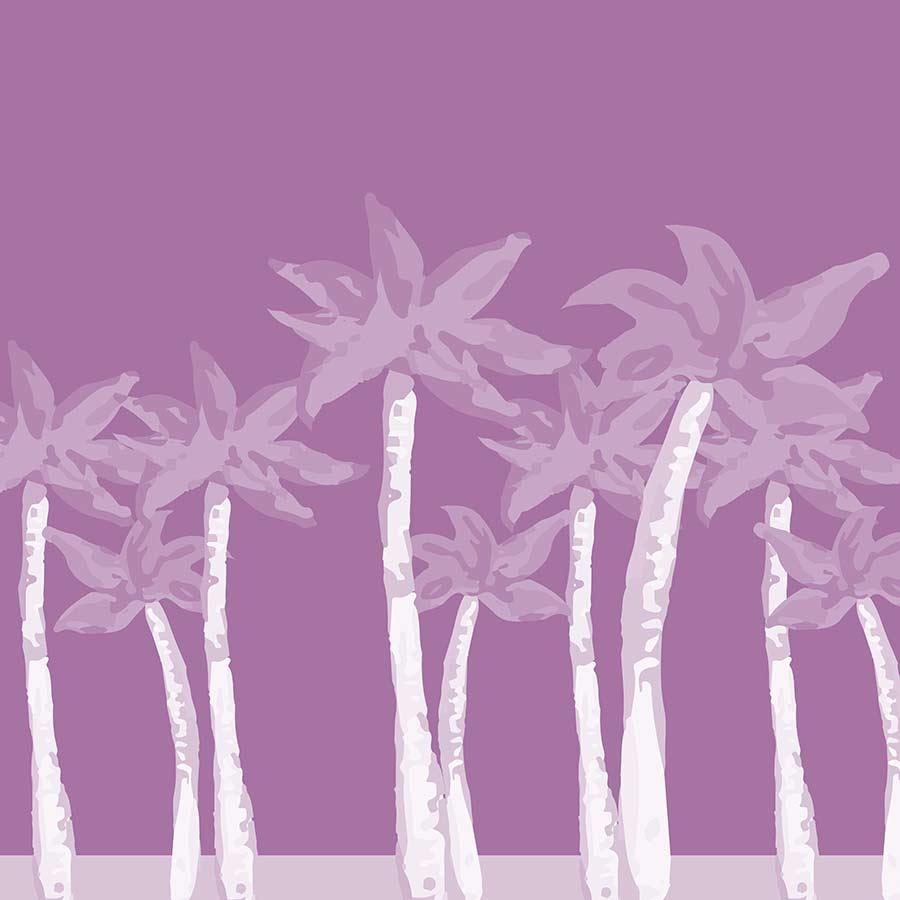 digital illustration - pink palms