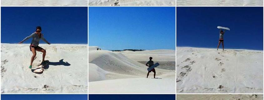 sandboarding collage