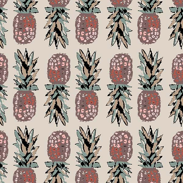 fruit pattern - pineapple obsession green