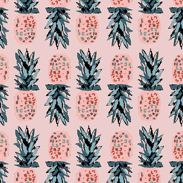 fruit pattern - pineapple obsession pink