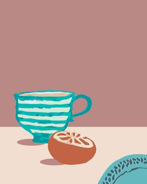 digital illustration - what's for breakfast