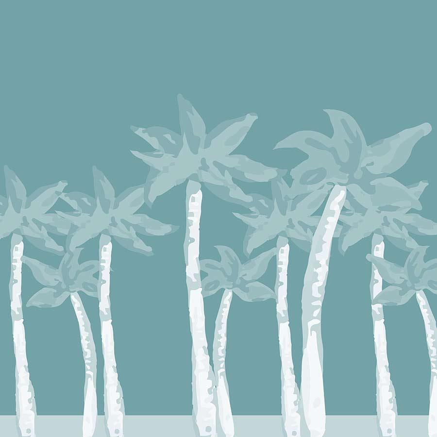 digital illustration - turquoise palms