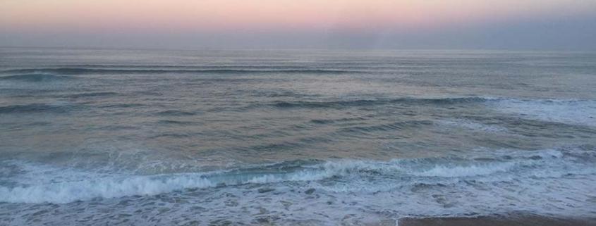 a beach - we are like waves