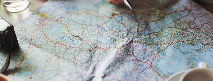 map - balanced travel plan