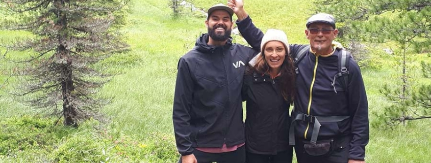hiking in Austria - family photo