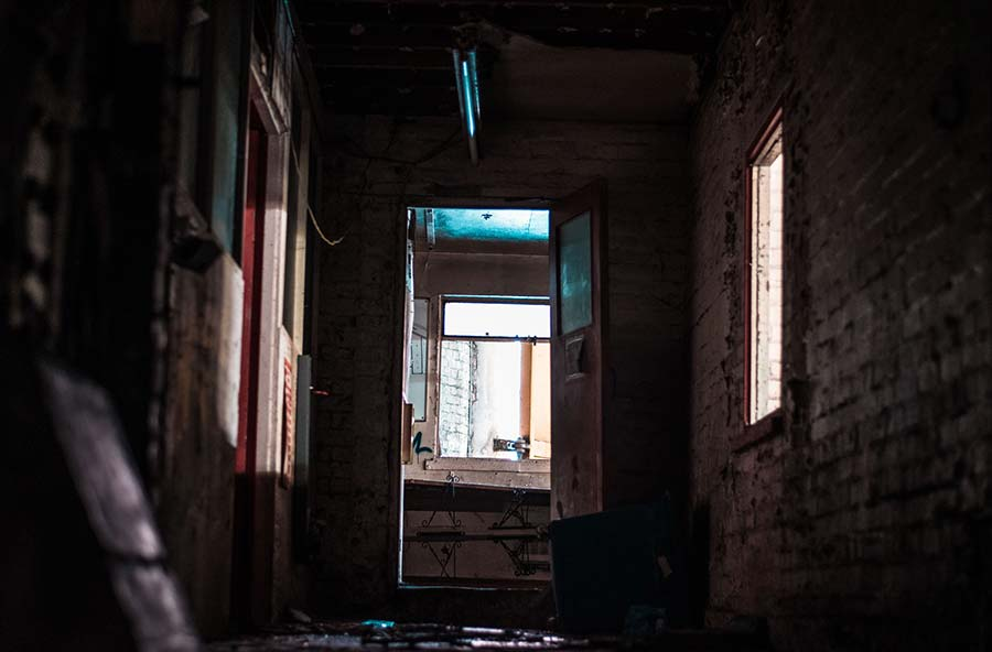 dark alley - most haunted places