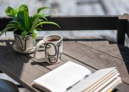 book and mug - staycation