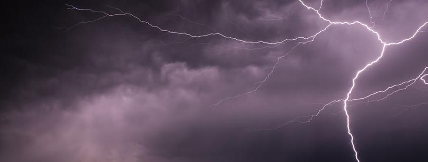 thunder and lightning - thunderstorms in Austria