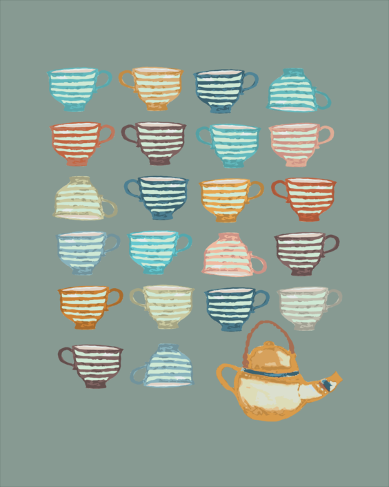illustration of tea cups - designsoup by alix