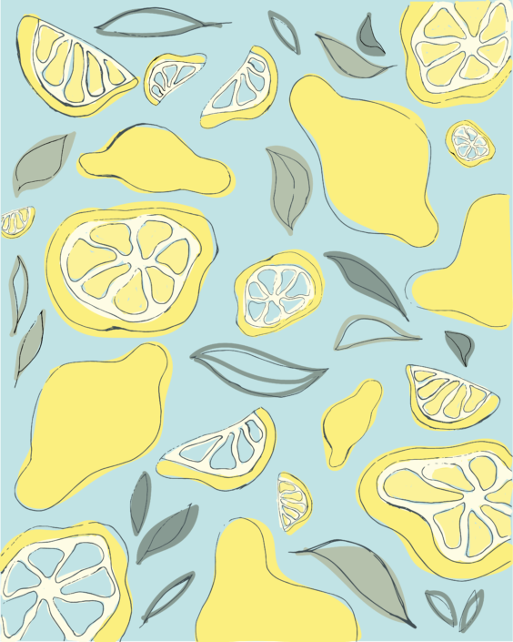 lemon pattern with leaves - designsoup by alix