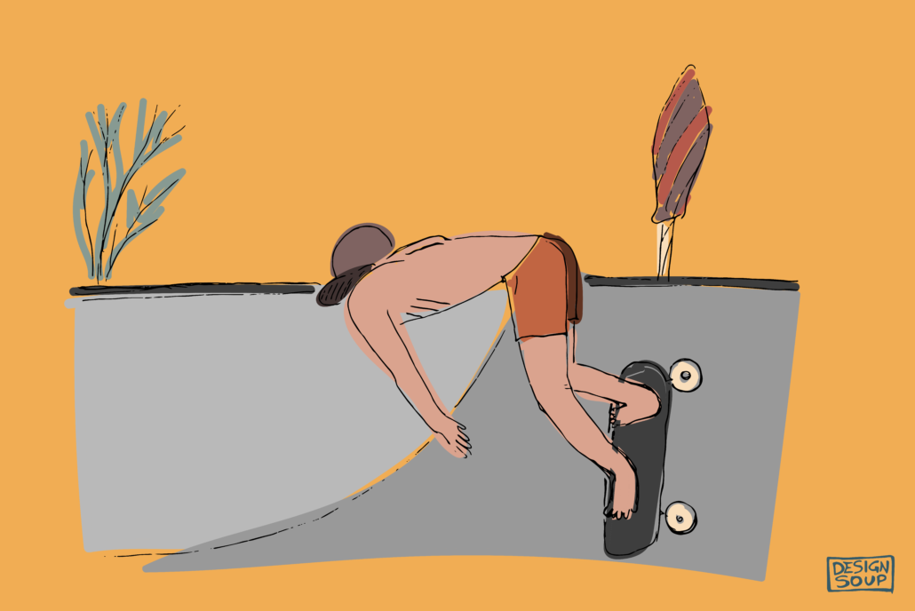 illustration of a guy skating - designsoup by alix