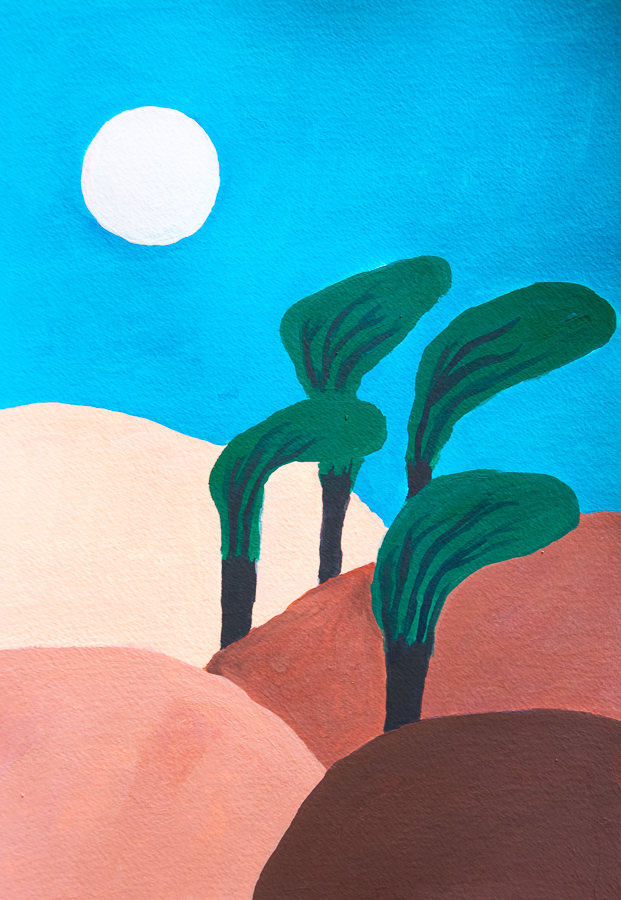 Painting of trees in the hills - designsoup by alix