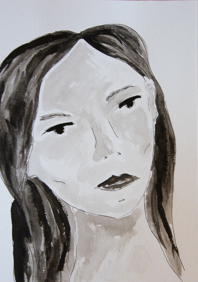 Woman's face in ink - designsoup by alix