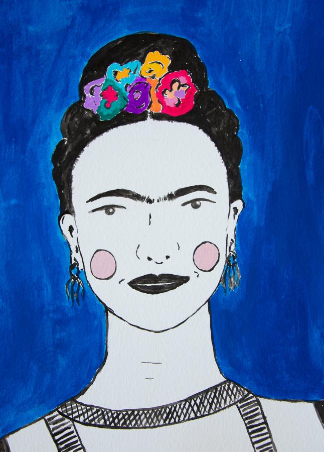 Frida Kahlo portrait - designsoup by alix