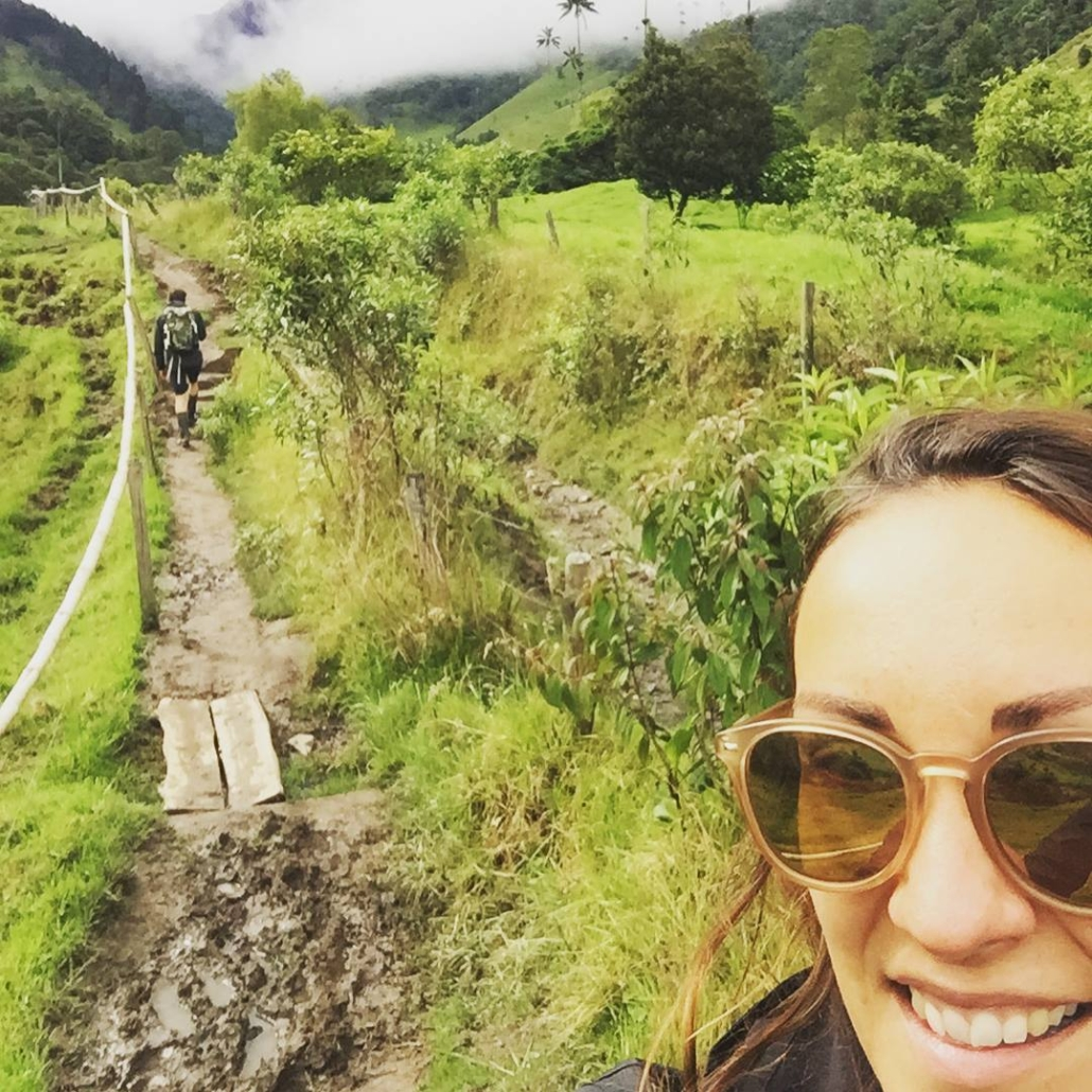 2 people, jungle, mud path - finding inspiration
