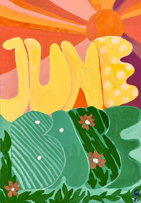 June Babe writing - designsoup by alix