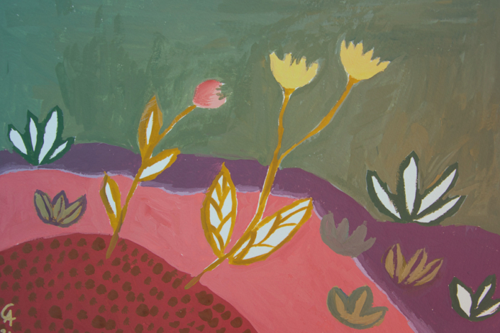 Flowers on a hill - designsoup by alix