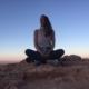sitting crossed-legged in the Atacama Desert - Alix M. Campbell