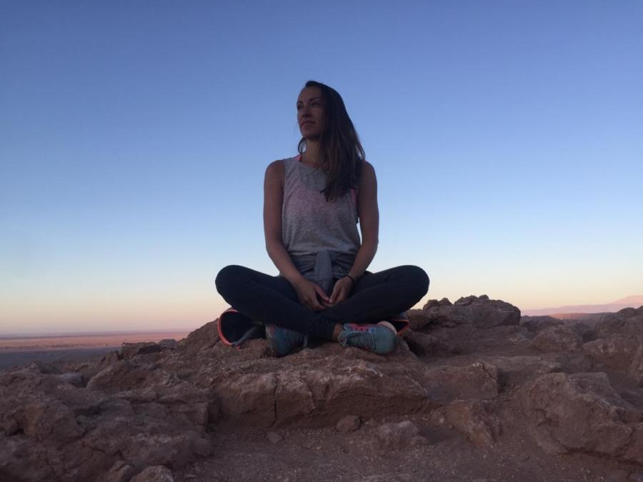 gratitude practice - person sitting in the Atacama Desert - Alix M. Campbell