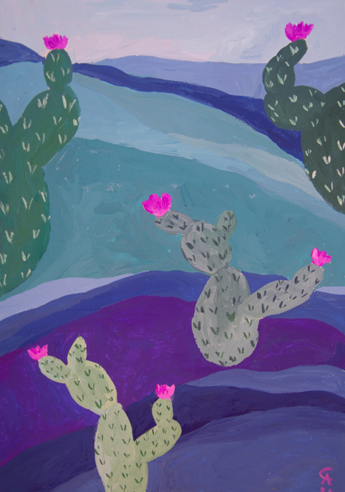 Landscape with cacti - designsoup by alix