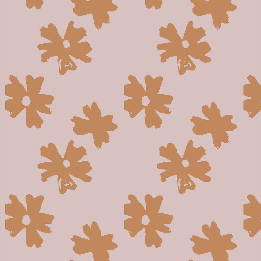 floral pattern - hello mallow cream