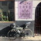 bike in front of a shop
