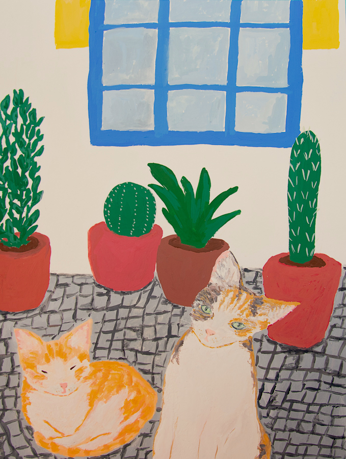 cats, plants, house facade - designsoup by alix
